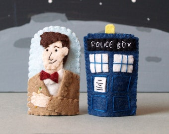 The Doctor and His Wife Finger Puppet Set