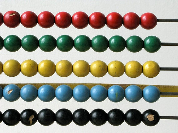 Vintage Wooden Toy Abacus
