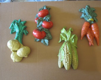 Home Interior Veggie wall plaques