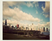 Chicago Skyline - surreal Chicago print, Etsy Wall Art -  Another View of Metropolis - urban photograph, chicago home decor, chicago art