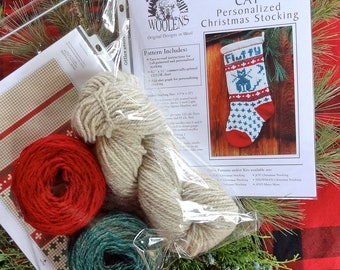 Pet CAT Christmas Stocking Knitting KIT for your kitty
