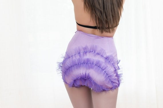 Vintage Showgirl Pinup Costume Bloomers - Circus High Waisted Booty Shorts / Hot Pants - As Is - XS
