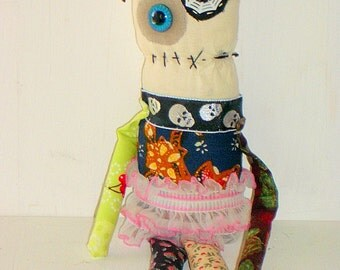 Handmade Monster Plush- Weird - Doll- Art Doll - Plush Toys- Creepy cute - Halloween