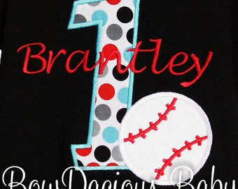 Baseball Birthday Shirt, Birthday Baseball Number, Custom Fabrics, Colors, and Font, Custom Fabric Choices and Colors, Boys Birthday Shirt