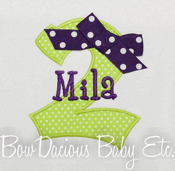 Girls Personalized Birthday Shirt, Birthay Number Shirt, Birthday Gift, Custom Fabrics, Colors, and Font, Girls Birthday Shirt