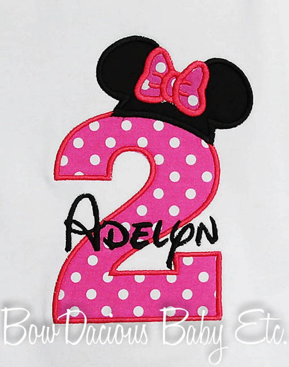 Minnie Mouse Shirts For Toddlers Minnie Mouse Birthday Shirt