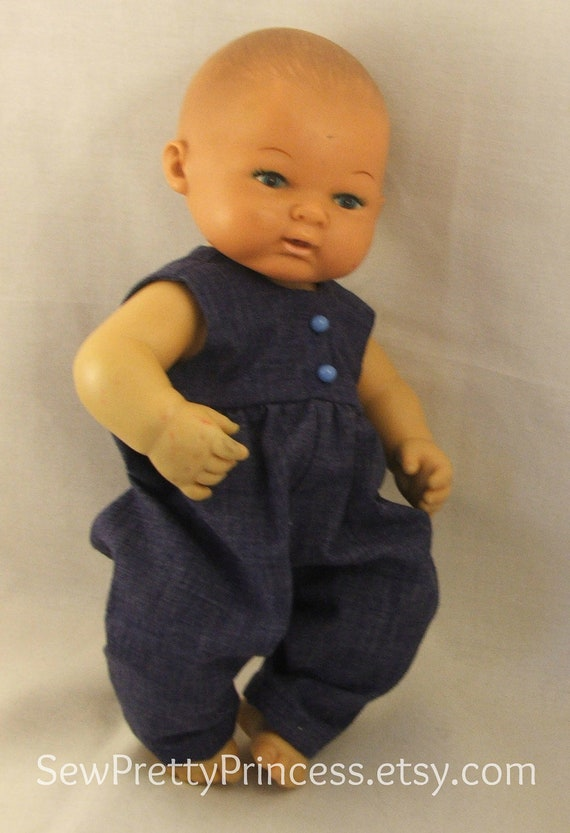Blue Romper for 10-12 inch Baby Dolls