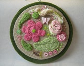 Wall hanging Needlework Embroidery Textile Fiber Art Crochet Decoration Picture