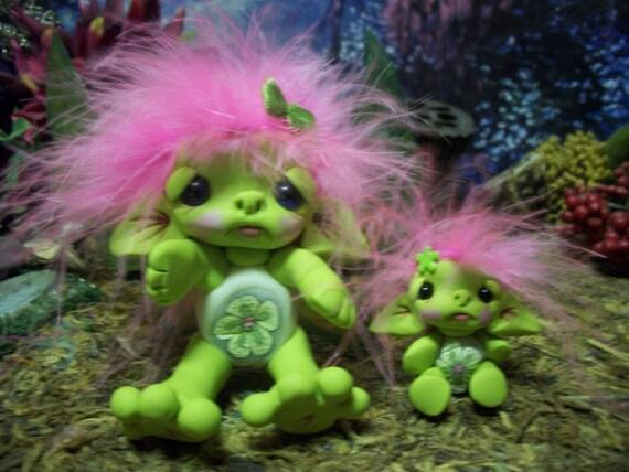 Goblin Trollie Fairy Fae Creature Fantasy Ooak Pixie Art Doll Sculpt by Pixiediddles