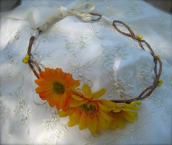 Flower Hair Accessories-FALL WEDDINGS-Weddings, Rustic Weddings, Beach Weddings, Bohemian, Yellow Daisy, Hair Accessories, Weddings