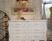 Painted Cottage Chic Shabby White Romantic French Dresser DR426
