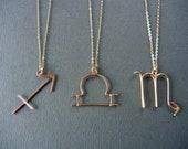 Zodiac sign/Horoscope necklaces