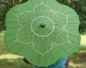 Flower Shaped Green Parasol