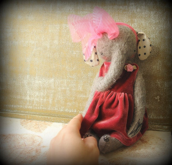 NEW PDF Epattern for 11 inch Mohair Elephant Sweet Chloe - the pattern for the dress is included - by Sasha Pokrass