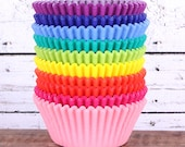 Rainbow Cupcake Liners, Solid Colors in 10 Colors (240 count - 24 each color)