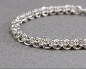 Spiral Chain Link Bracelet - 16g Jens Pind sterling silver chain maille bracelet