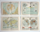 Old Maps & Charts - Pages from an Antique Pocket Atlas. John Bartholomew and Co.