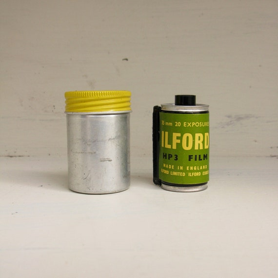 Vintage film cannister by Ilford.