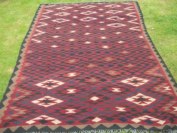 Super Big 9 x 6 Maimana. Hand woven Rug/Kilim Carpet from Afghanistan.