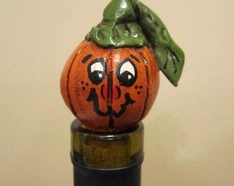 Wicked Pumpkin Face Wine Stopper