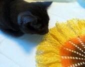 Newly Dyed Vintage Sunflower Ruffle Doily