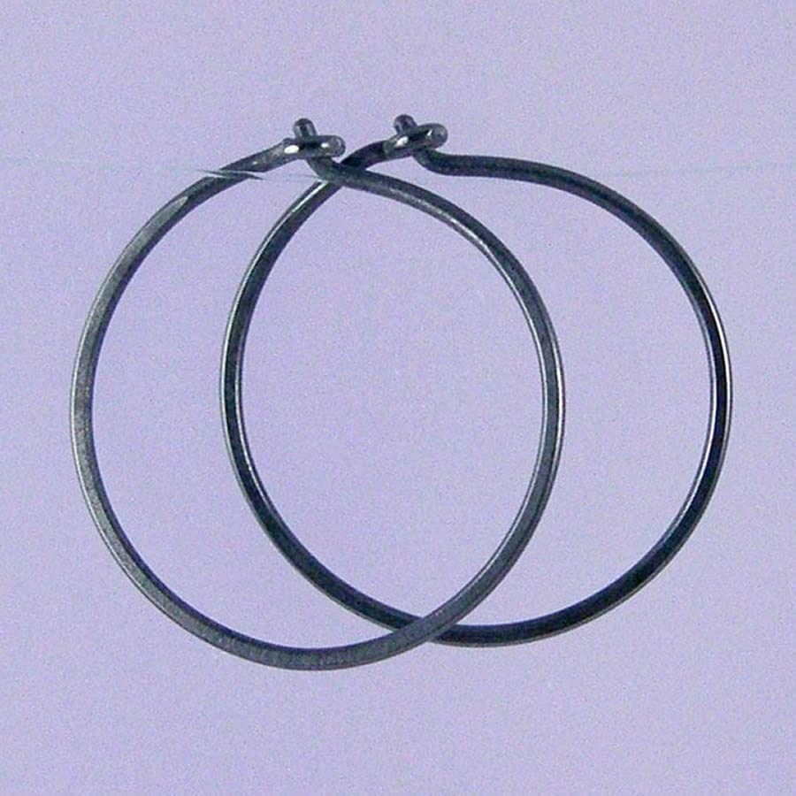 small black hoop earrings for or from gioiellijewelry small hoops black niobium hoop earrings