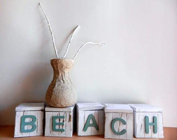 Vase made from beach sand / beach decor / small vase / small flower bunch vase / bud vase