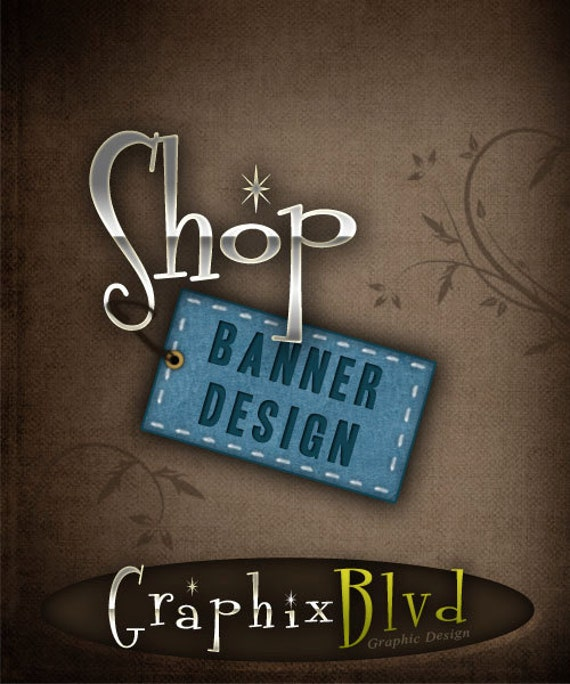 Professional Etsy Shop Banner Set - Includes Avatar - Personalized - OOAK