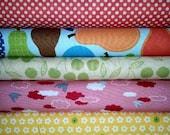 Anthology Fabrics, The Woodlands Bundle, 1/2 yard bundle