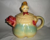 Sale! 1940's Shawnee Teapot - Tom the Piper's Son Ceramic