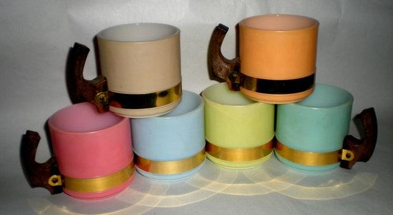 Set of 6 Vintage Siesta Ware Handled Mugs