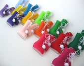 Felt Christmas Tree Ornaments Ice Skates Set of 5 Eco-Friendly Over 20 colors to choose from
