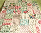 Custom Baby Quilt - Vintage Chenille- Garden of Roses and Wildflowers Baby Quilt or Throw