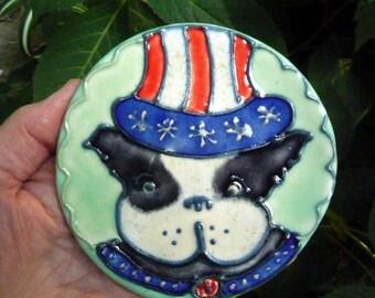 Black and White  Boston Terrier  Spoon Rest