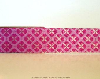 Pink Blossom Floral Washi Tape (Chugoku)
