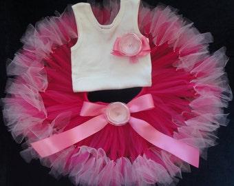 Baby Girls Birthday Tutu Dress Outfit, Pinkest Pink Birthday Tutu Dress