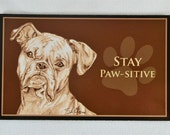 Fridge Magent-  Boxer Stay Paw-sitive