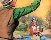 vintage fly fishing beer advertisement 1953