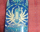 Thousand armed Kwan Yin and Hamsa pendant RESERVED FOR UWANNA