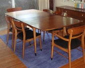 Mid Century Modern LANE Dining Room Table and Chairs
