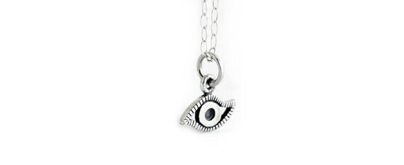 Tiny Sterling Silver Evil Eye Necklace