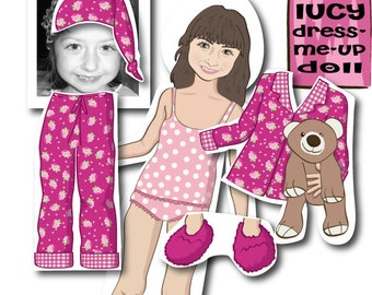 Personalized MAGNETIC Paper Doll - Illustrated from your photo
