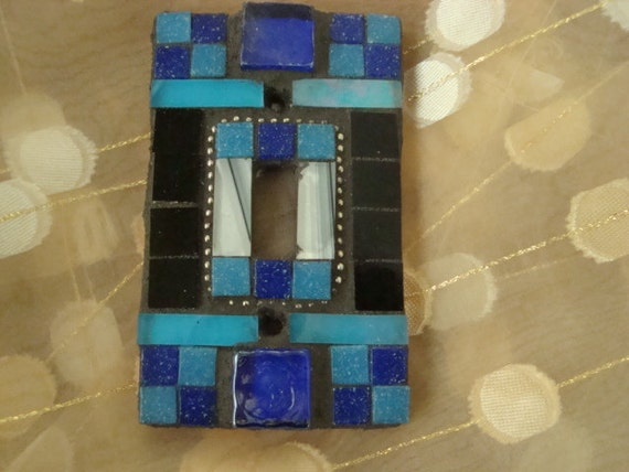 MOSAIC SWITCH PLATE - Shades of Blue