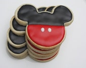 One Dozen  Mouse Ears Silhouette Cookie Favors Pants