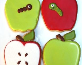 Back to School Apple for Teacher - cookie favors