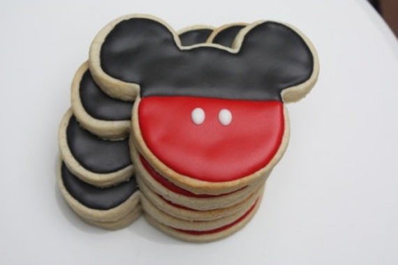 One Dozen Mouse inspired Ears Cookie Favors