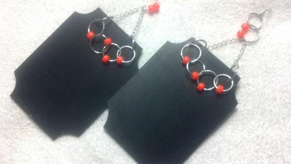 Chalkboard Earrings, Large Earrings, Huge Earrings, Diva Earrings
