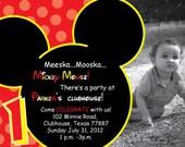 Mickey Mouse Birthday Party Invitation Photo Custom Personalized Minnie Disney