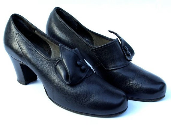 Black pumps by Bally, c. 1950
