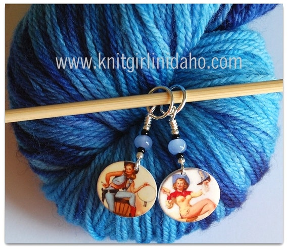 Sassy Cowgirl Charm Stitch Markers (Set of 2)